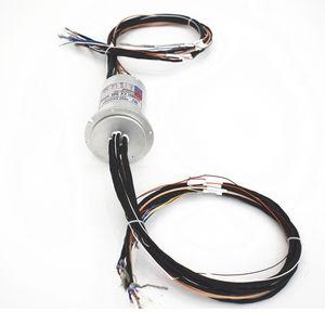 collecteur tournant sur mesure / à arbre plein / pour antenne radar / pour enrouleur de câble