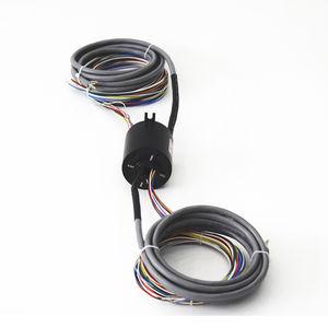 collecteur tournant via Ethernet / arbre traversant / de transmission vidéo / pour scanner X