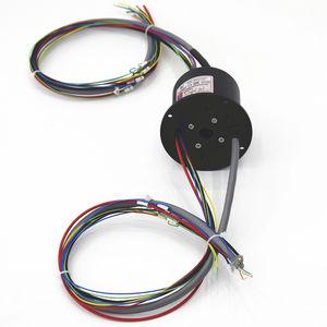 collecteur tournant via Ethernet / à arbre plein / pour équipement médical / pour instrument de mesure