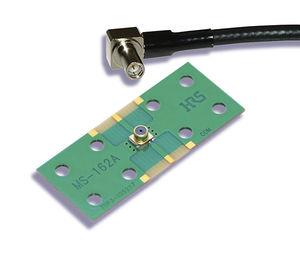 connecteur coaxial / SMT / coudé / de carte électronique