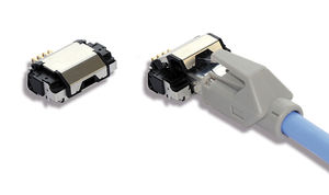 connecteur de données / RJ45 / droit / modulaire