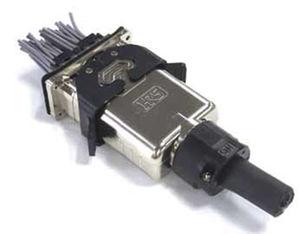 connecteur d'alimentation électrique / droit / à verrouillage / pour batterie