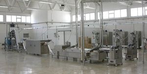 ligne de production de pâtes avec séchage