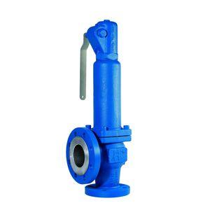 soupape de sécurité à bride / pour eau / pour gaz / pour réservoir