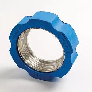écrou pour raccord / cylindrique / en acier / en caoutchouc