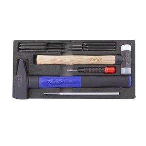 NiceDD Kit dextracteur de d/ébosselage avec 18 onglets Outil de d/ébosselage r/églable Largeur r/églable