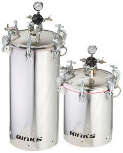 réservoir pour peinture / en acier inoxydable / sous pression / industriel