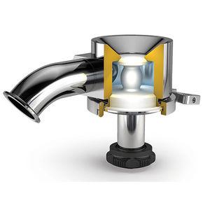 vanne à membrane radiale / pour réservoir / pour applications de haute pureté / avec raccord clamp