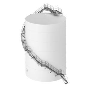 escalier pour citernes
