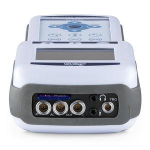 analyseur de vibrations appliqués à l'homme / portable / avec enregistreur de données / 3 axes