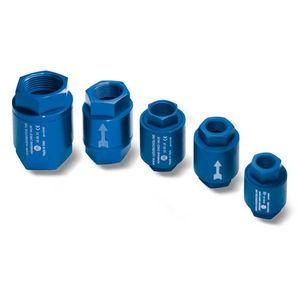 clapet anti-retour à membrane / fileté / pour le vide / pneumatique