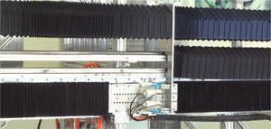 soufflet de protection accordéon / rectangulaire / de glissière / pour machine