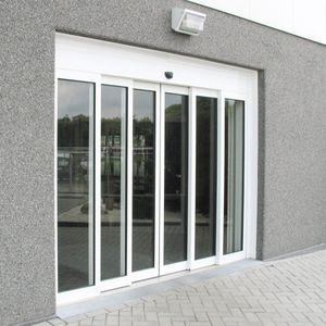 portes coulissantes / en verre / pour l'extérieur / télescopiques