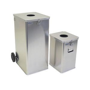poubelle en aluminium