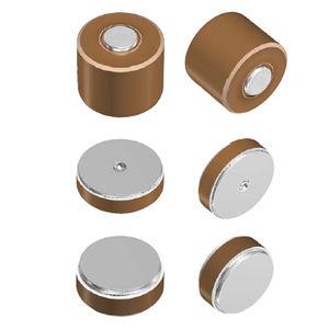 condensateur en céramique / cylindrique / haute tension