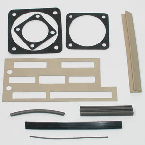 joint plat / en silicone / de blindage EMI / conducteur
