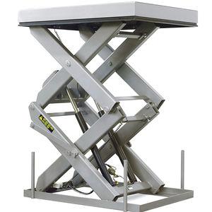 table élévatrice à double ciseaux