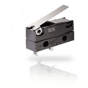 micro-rupteur à levier / unipolaire / DC / action momentanée