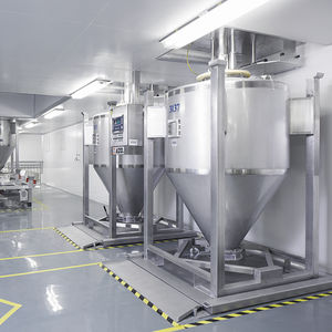 silo à fond cônique / pour produits en vrac / en acier inoxydable / pour l'industrie agroalimentaire
