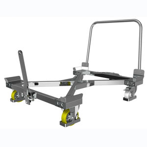 chariot en acier / en acier galvanisé / à plate-forme / pour caisse-palette