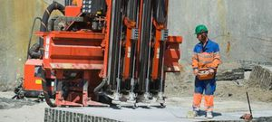 foreuse multifonction / fixe / rotative / hydraulique