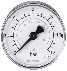 manomètre à cadran / à tube de Bourdon / pour gaz / pour le vide