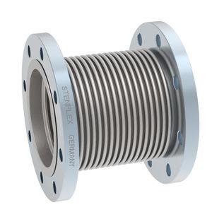 compensateur de dilatation en métal / rond / à bride / pour l'eau