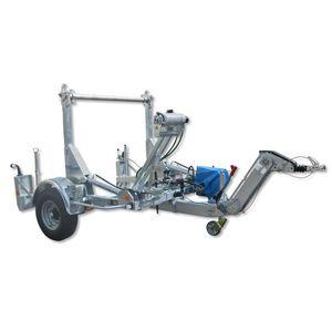 remorque à 1 essieu / pour transport et pose de tuyaux / porte tourets / hydraulique