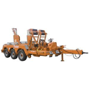 remorque à 3 essieux / pour transport et pose de câbles / porte tourets / hydraulique