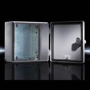 boîtier mural / rectangulaire / en tôle d'acier / avec porte