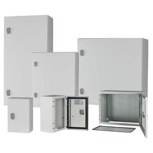 boîtier mural / rectangulaire / en tôle d'acier / pour distribution électrique