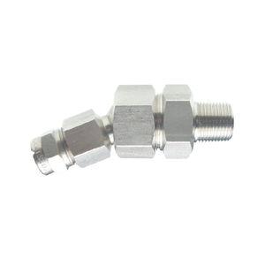 raccord hydraulique / à visser / droit / en acier inoxydable