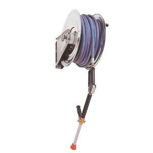 enrouleur de tuyau de nettoyage / manuel / fixe / en inox