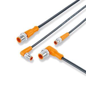 connecteur avec câble / de données / droit / à angle droit