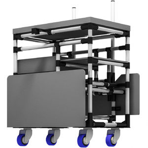 chariot d'atelier / en métal / à étagères / polyvalent