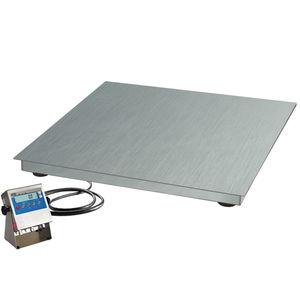 balance à plate-forme / avec indicateur séparé / avec afficheur LCD / en acier inoxydable