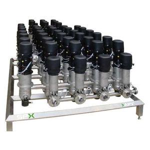 manifold pour électrovanne / multivoie / en métal / de produits alimentaires