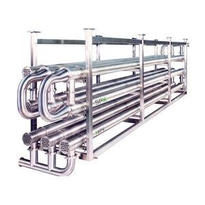 échangeur de chaleur tube / tube / liquide / liquide / en inox / pour l'industrie agroalimentaire