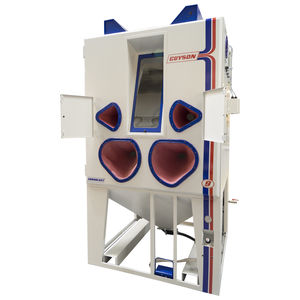 cabine de sablage à pression / manuelle / avec table tournante / robuste