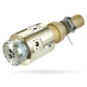 raccord tournant pour fluide réfrigérant / pour machine-outil / à haute vitesse / compact