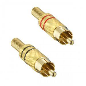 connecteur audio/vidéo / RCA / droit / mâle