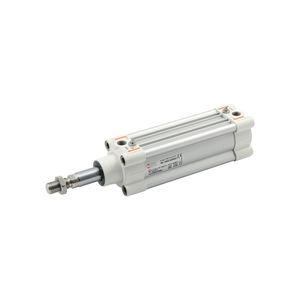 vérin pneumatique / à double effet / à tige traversante / ISO 15552