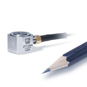 capteur de force en compression / miniature / en acier inoxydable / piézoélectrique