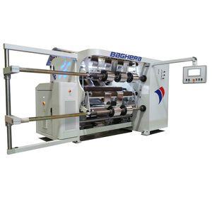 bobineuse refendeuse pour film plastique / pour film d'aluminium / compacte / pour l'industrie textile