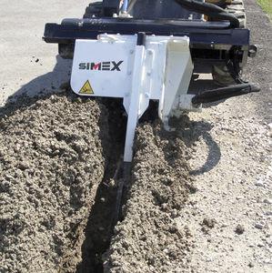 trancheuse de sol à chaînes