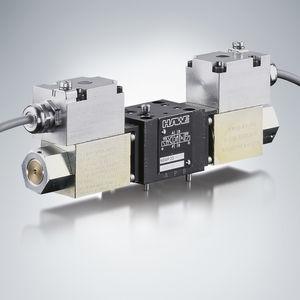 distributeur hydraulique à tiroir / actionné par solénoïde / proportionnel / compact