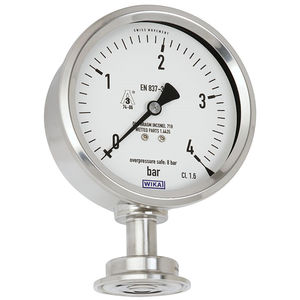 manomètre analogique / à membrane / pour gaz / pour le vide