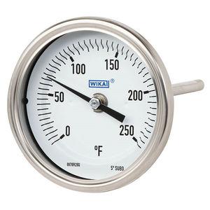 thermomètre bimétallique / à aiguille / à insertion / robuste