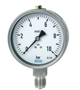 manomètre analogique / à tube de Bourdon à liquide / de process / pour gaz