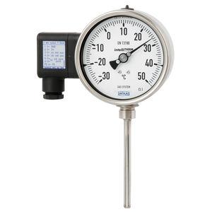 thermomètre à dilatation de gaz / analogique / compact / en acier inoxydable